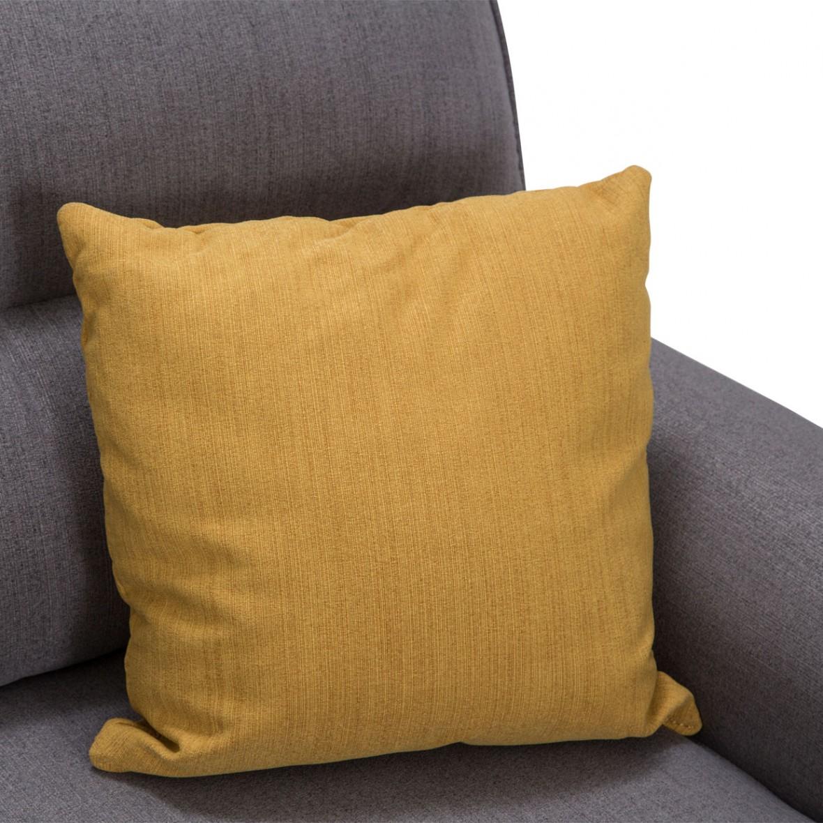 Софа 3-местная, цвет Сталь, 2 декоративных подушки