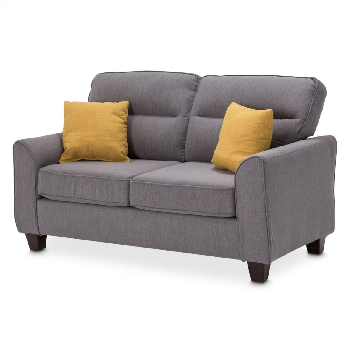 Софа 2-местная, цвет Графит, 2 декоративных подушки