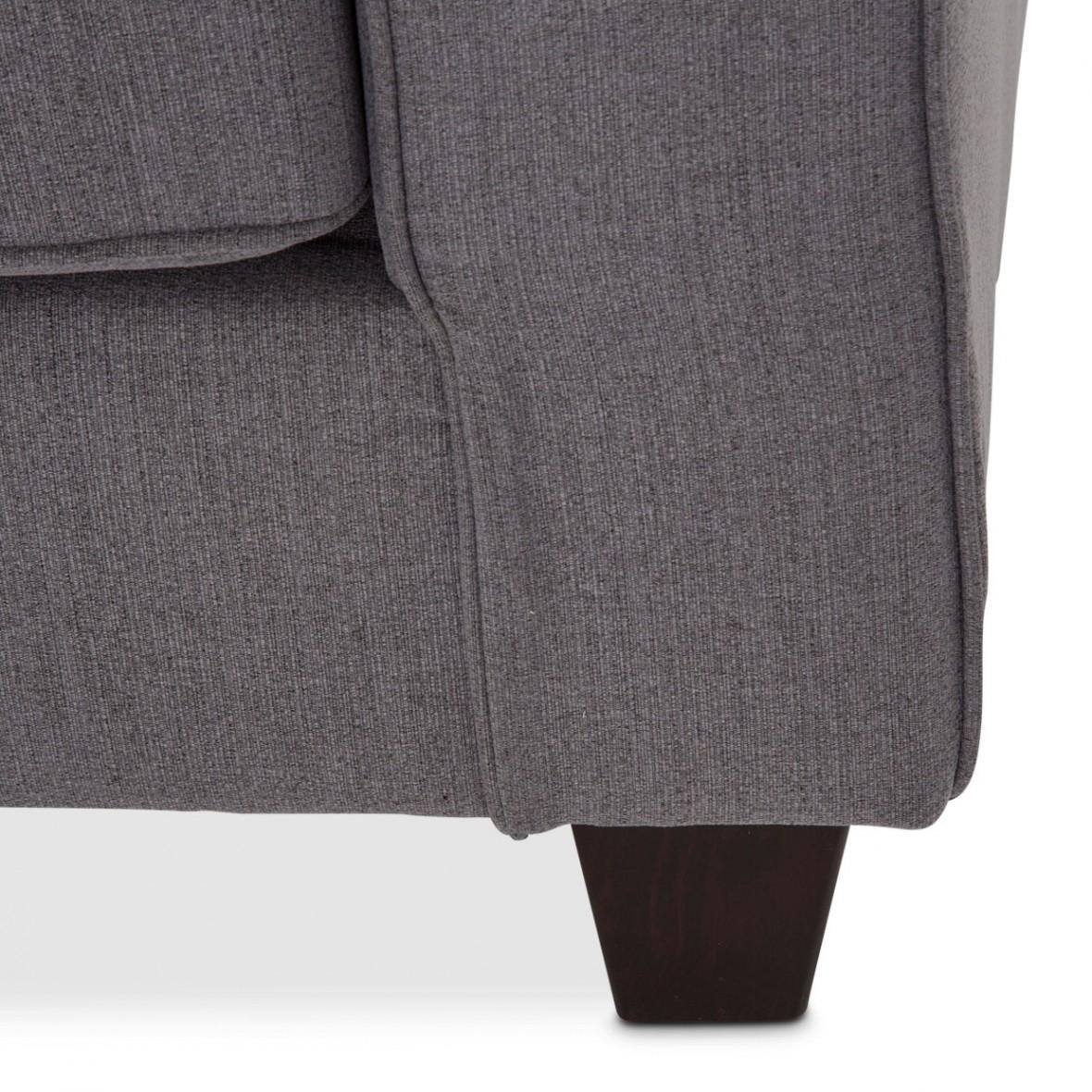 Софа 2-местная, цвет Сталь, 2 декоративных подушки