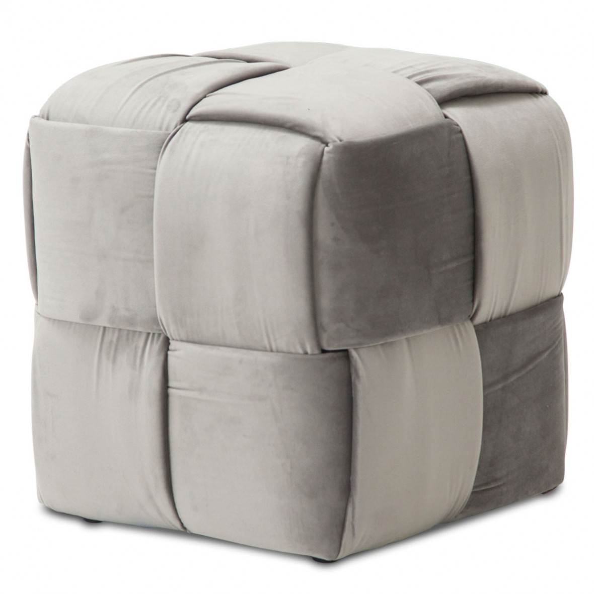 Пуф декоративный плетеный кубик