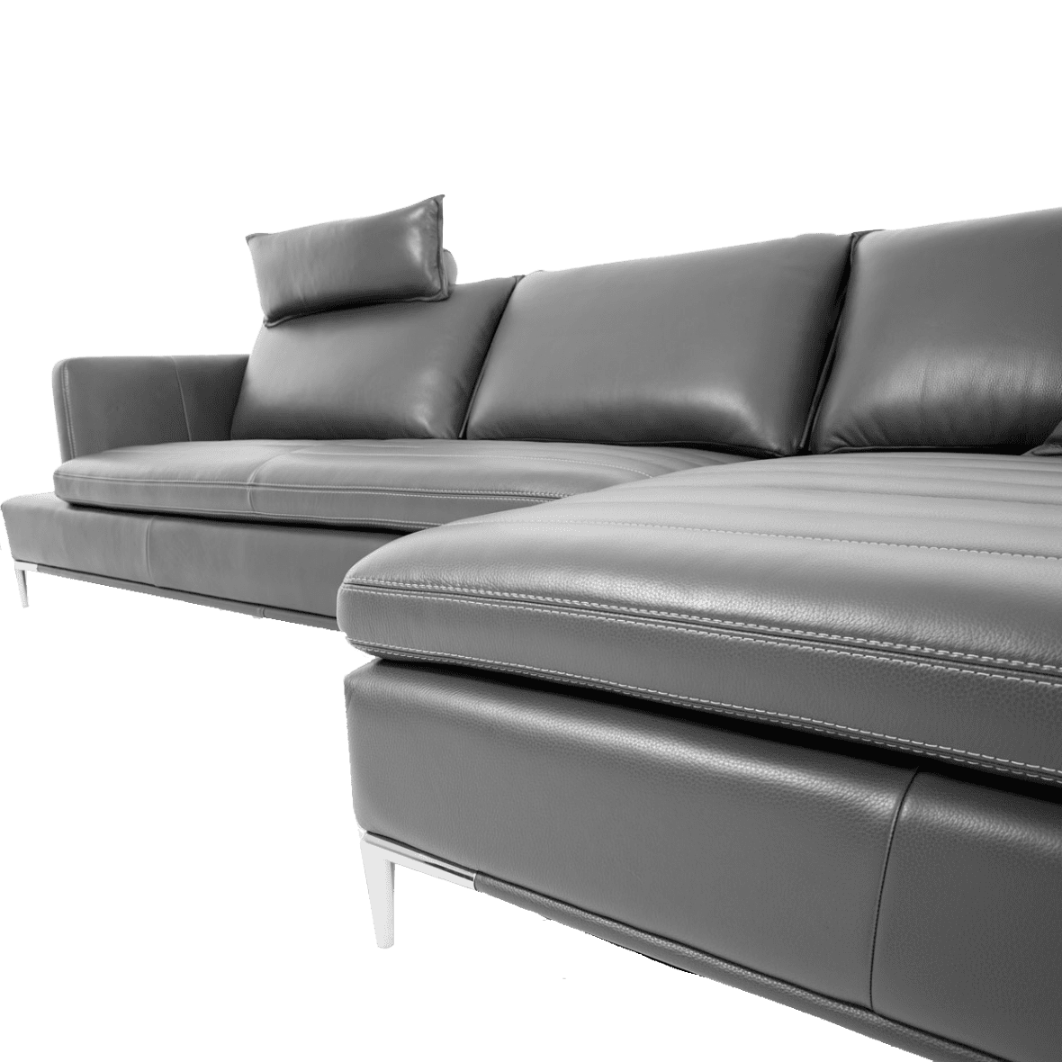 Lazzio угловой кожаный диван, Graphite