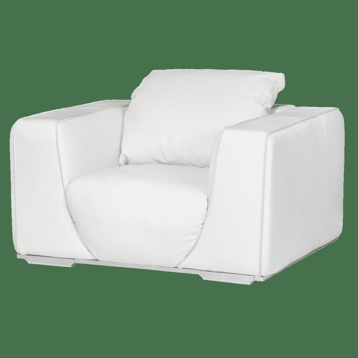 Sophia кресло, White, нерж сталь