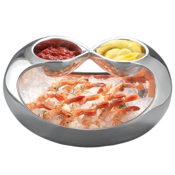 Блюдо Infinity для подачи закусок с двумя соусниками, дизайн Wey Young