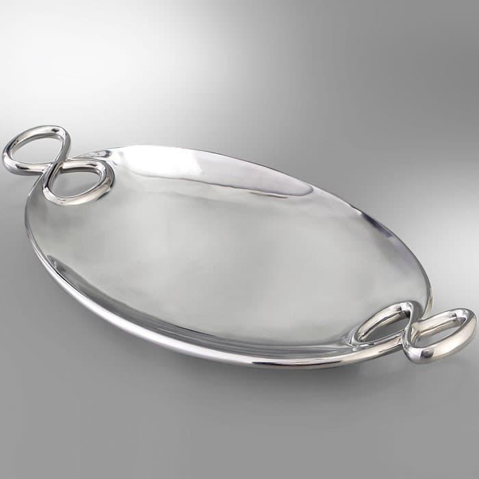 Акцентное блюдо   Infinity, сталь, овал, дизайн Wey Young
