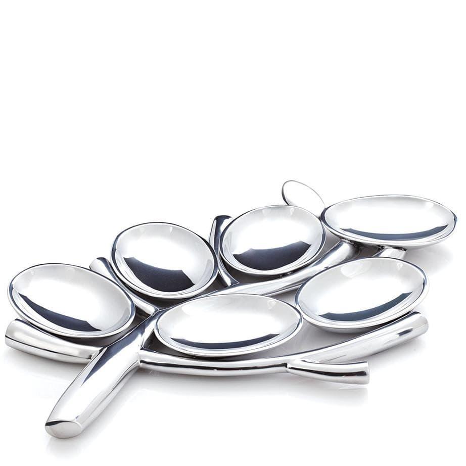 Секционное блюдо Менора Древо жизни, дизайн Marilyn Davidson