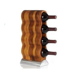 Акцентный деревянный мини-бар на 4 бутылки
