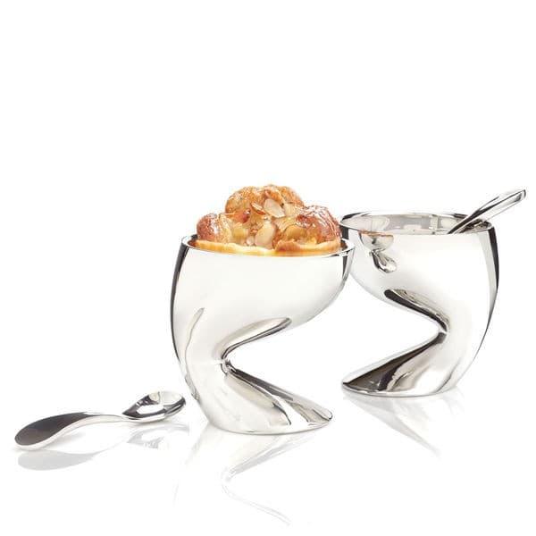 Набор для десерта Skoop, креманка с ложкой, дизайн Karim Rashid