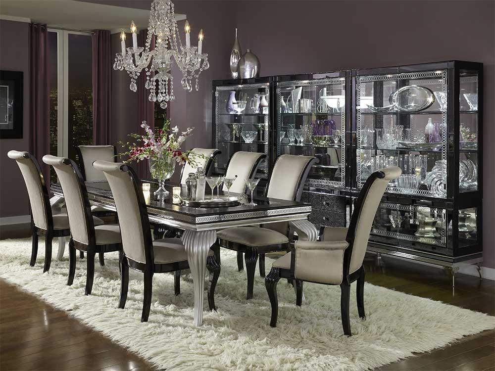 Обеденный стол со стеклянными вставками Black Iguana