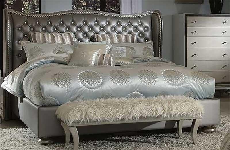 Кровать размер Cal. King цвет Metallic Graphite