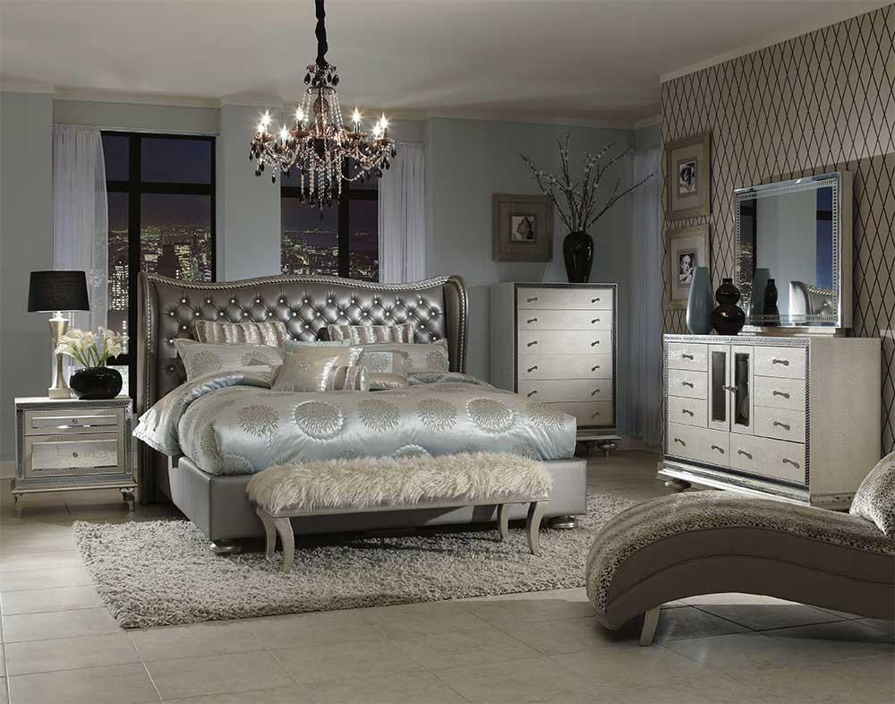 Кровать размер Queen цвет Metallic Graphite