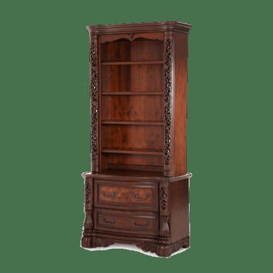 Книжный шкаф с двумя ящиками, открытый