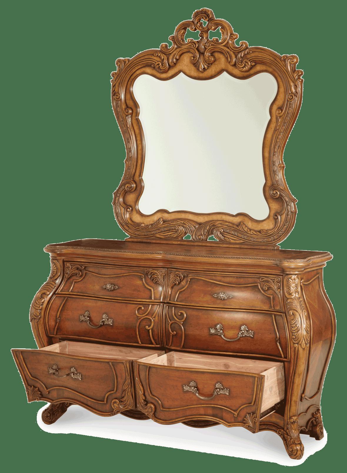 Комод двухсекционный с зеркалом