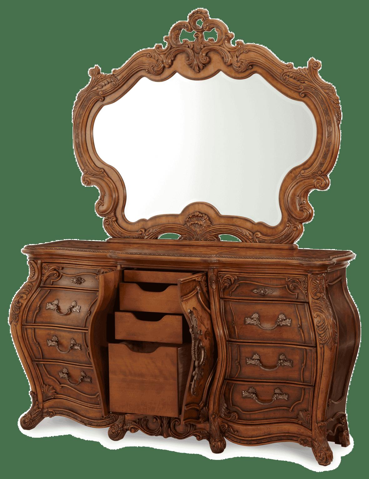 Комод трехсекционный с зеркалом