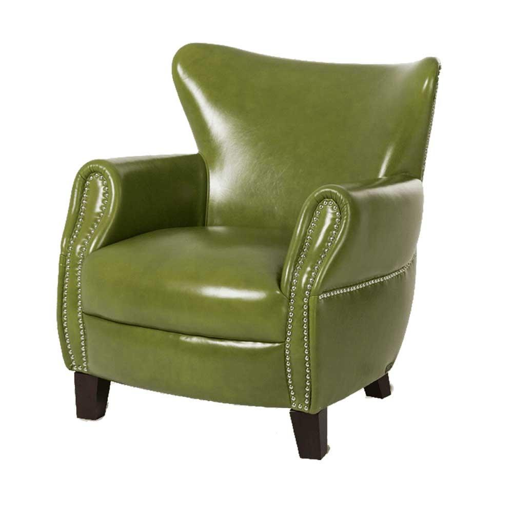 Кресло акцентное кожа Pistachio Espresso