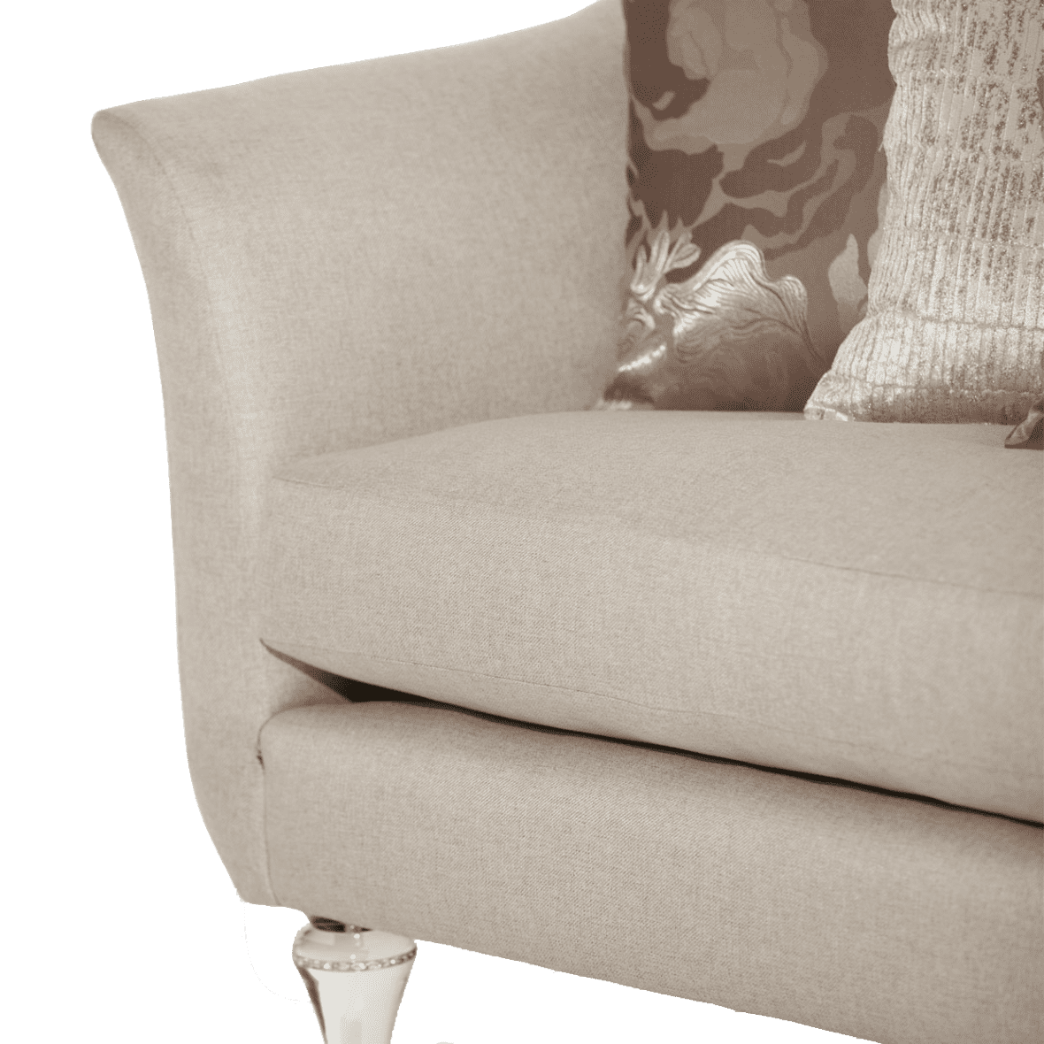 Софа стандарт Platinum, хрустальные ножки