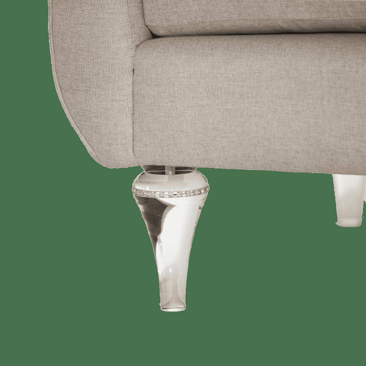 Софа Loveseat Platinum, хрустальные ножки