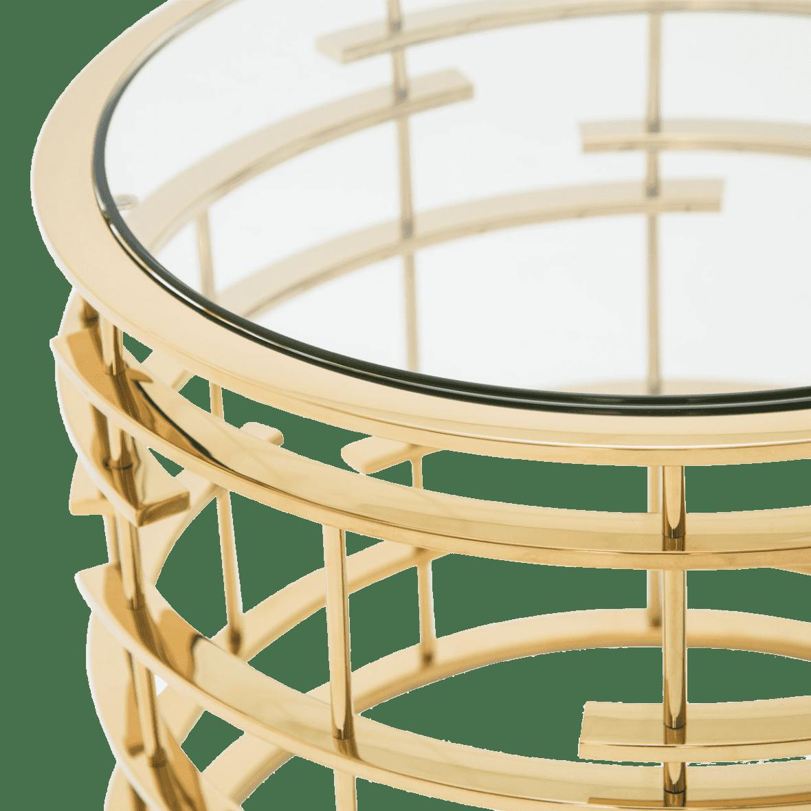 Plexus Круглый приставной стол, Gold