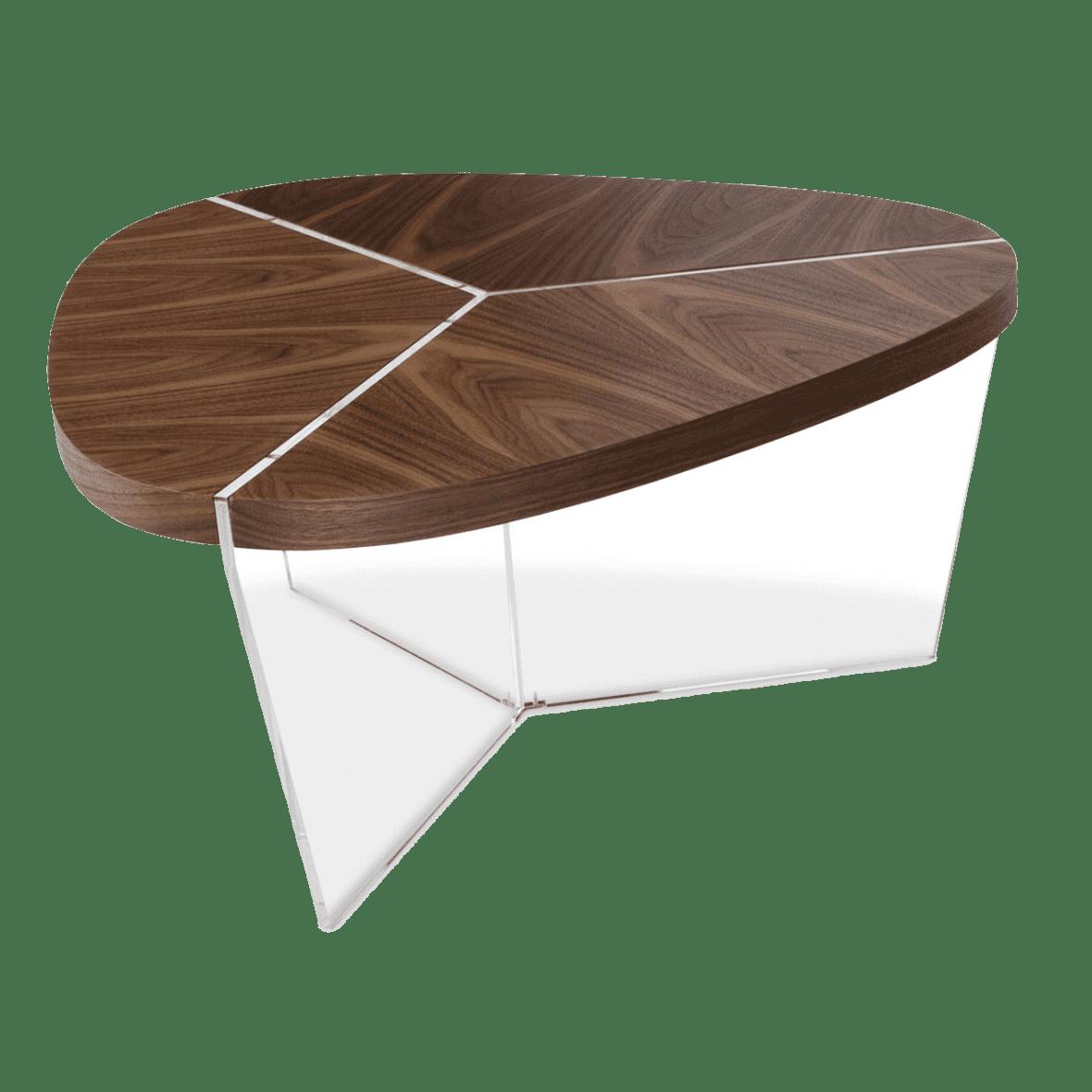 Sector Треугольный журнальный стол, высокий