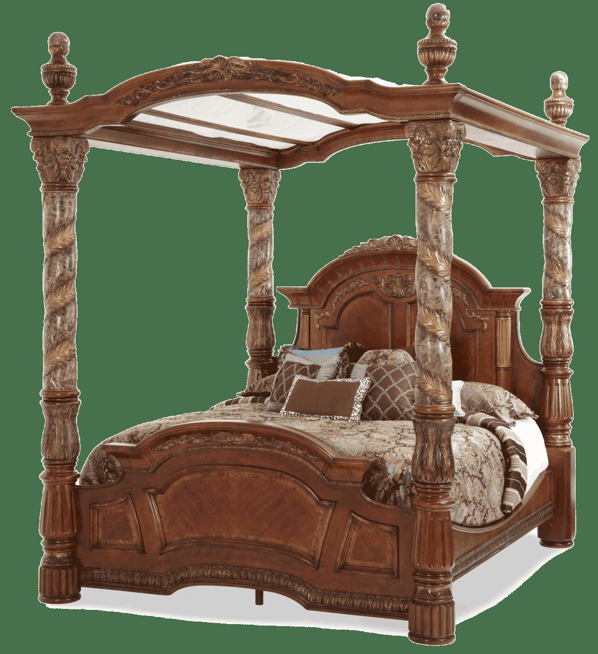 Кровать с балдахином  Размер Cal King