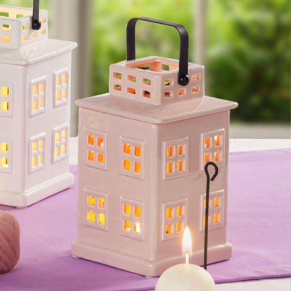 Декоративный фонарик Айвори домик 21 см