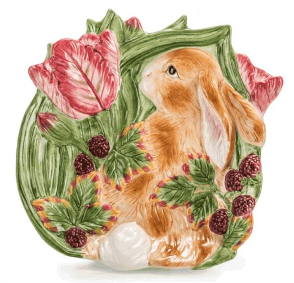 Декоративное блюдо Заяц, ручная роспись
