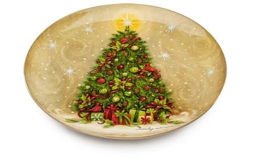 Блюдо круглое Метель