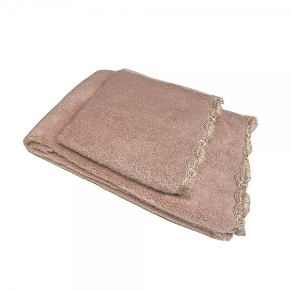 Набор полотенец (2 шт.) La Perla Home Petit Maison Ospite, розово-пудровый