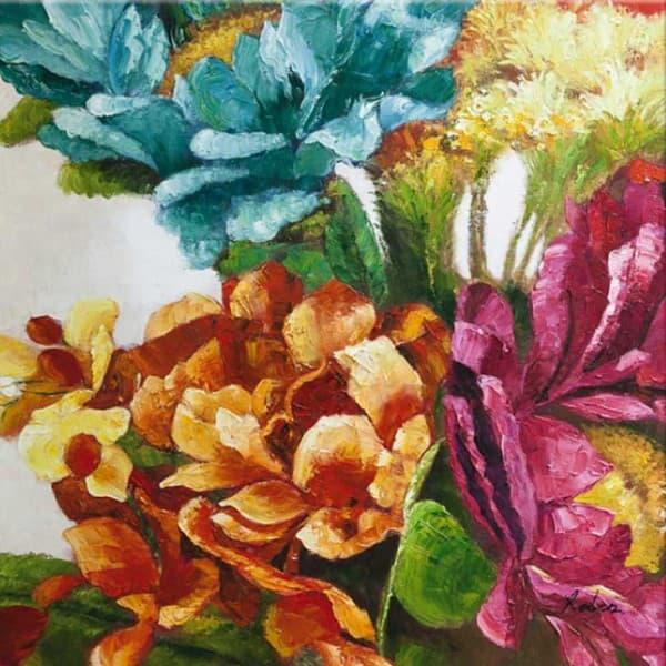 Печать с ручной росписью The colors of flowers