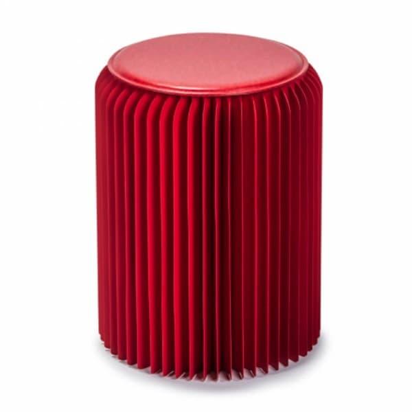 Столик под лампу низкий, красный
