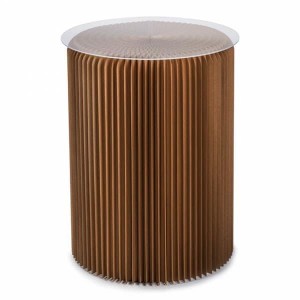 Столик под лампу высокий, коричневый