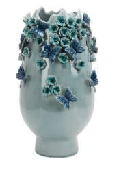 Ваза Galicia голубая, обливная керамика