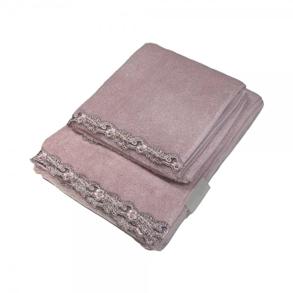Набор полотенец (2 шт.) La Perla Home Petit Maison Ospite, розовый