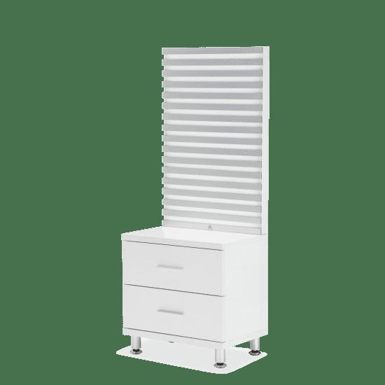 Прикроватная тумбочка с панелью (LED подсветка) Cloud White
