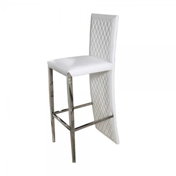 Барный стул с декоративной строчкой