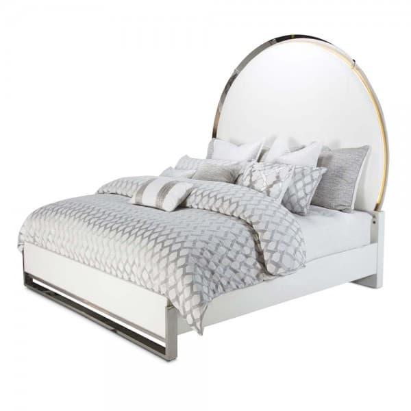 Кровать акцентная с круглой панелью, Размер Cal King