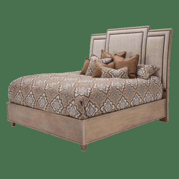 Кровать модульная с высокой драпированной панелью Cal King  (3 предм)