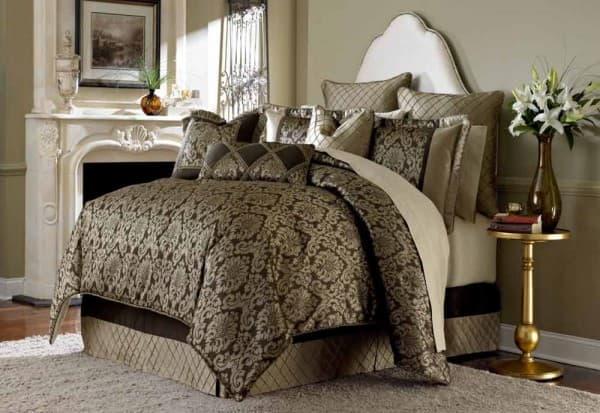 """Imperial"" Декоративное покрывало и подушки, набор из 10 предметов  (King) цвет Bronze"