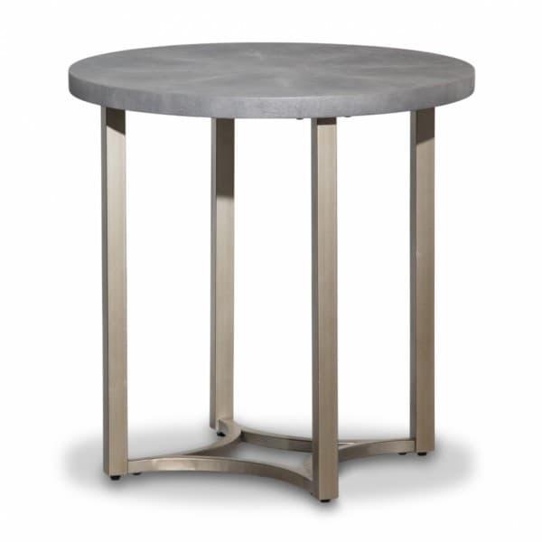 Alta Круглый приставной стол, топ серый мрамор