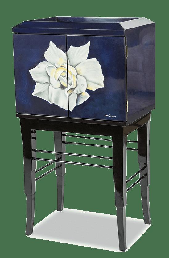 Декоративный двудверный кабинет Белая Роза