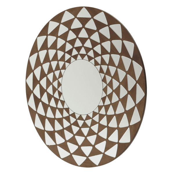 Зеркало круглое, Ар Деко, Оптическая загадка
