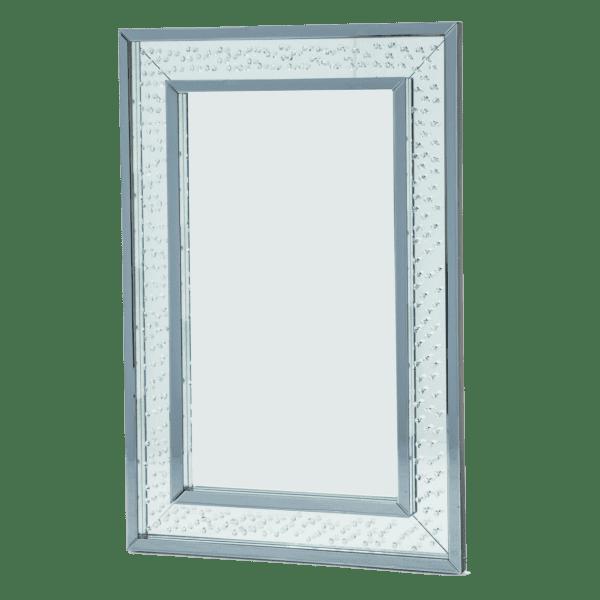 Зеркало прямоугольное, белая рама