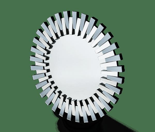 Круглое зеркало с фацетным декором