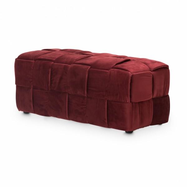 Пуф декоративная плетеная скамейка