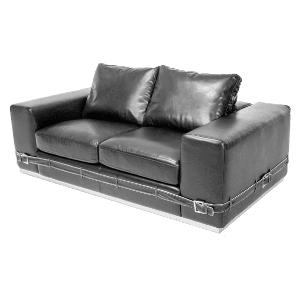 Ciras софа Loveseat Black