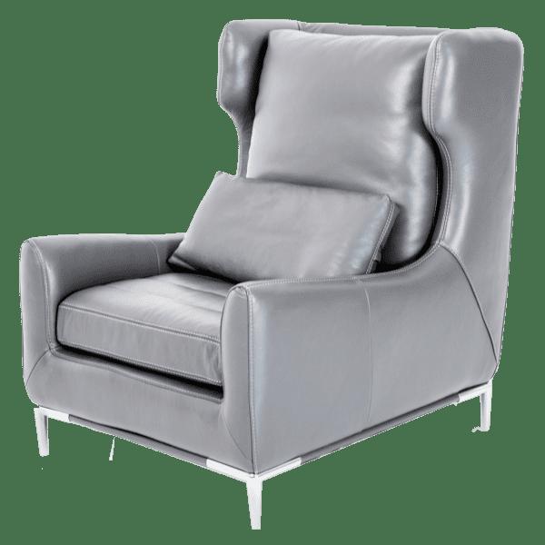 Lazzio кожаное кресло, Graphite