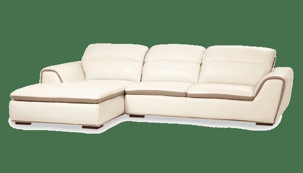 Vanuto угловой кожаный диван, матовый белый