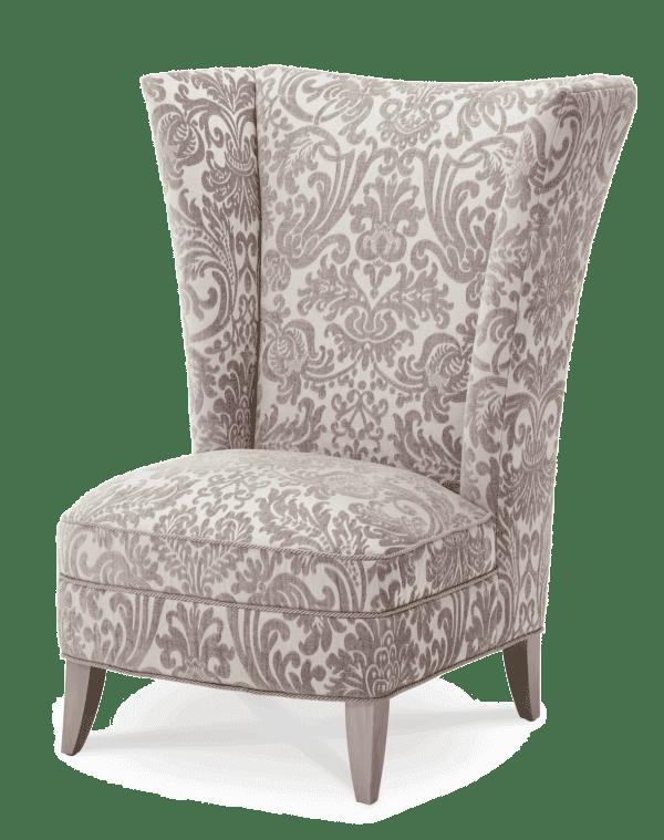 Кресло акцентное  с высокой спинкой
