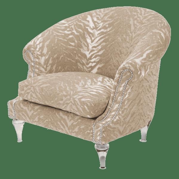 Кресло на хрустальных ножках Doria