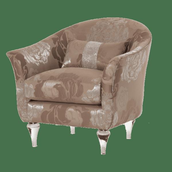 Кресло для чтения хрустальные ножки