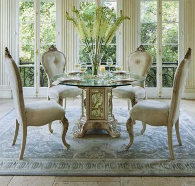 Круглый Стеклянный Обеденный стол